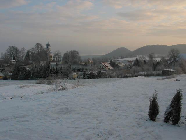 Papstdorf - Blick von der Terrasse