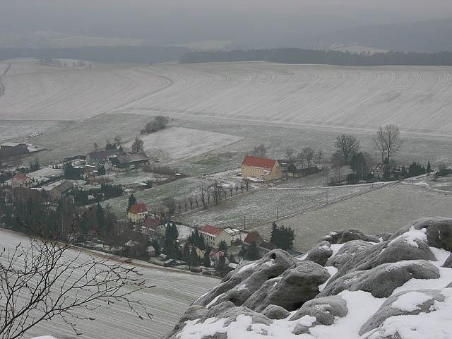 Landhaus Böhmer in Bildmitte