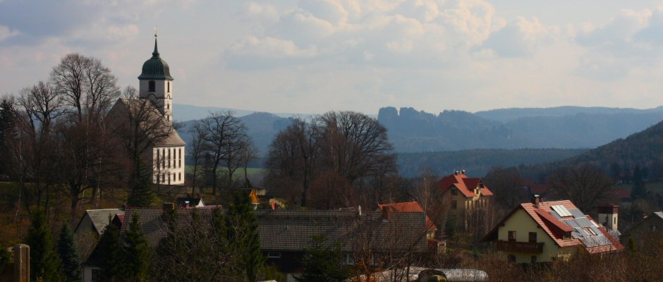 Blick über Papstdorf
